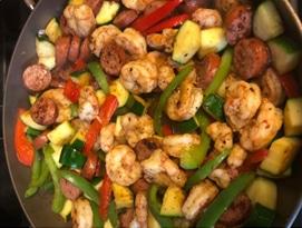 Shrimp & Kielbasa Delight Low Carb Recipe
