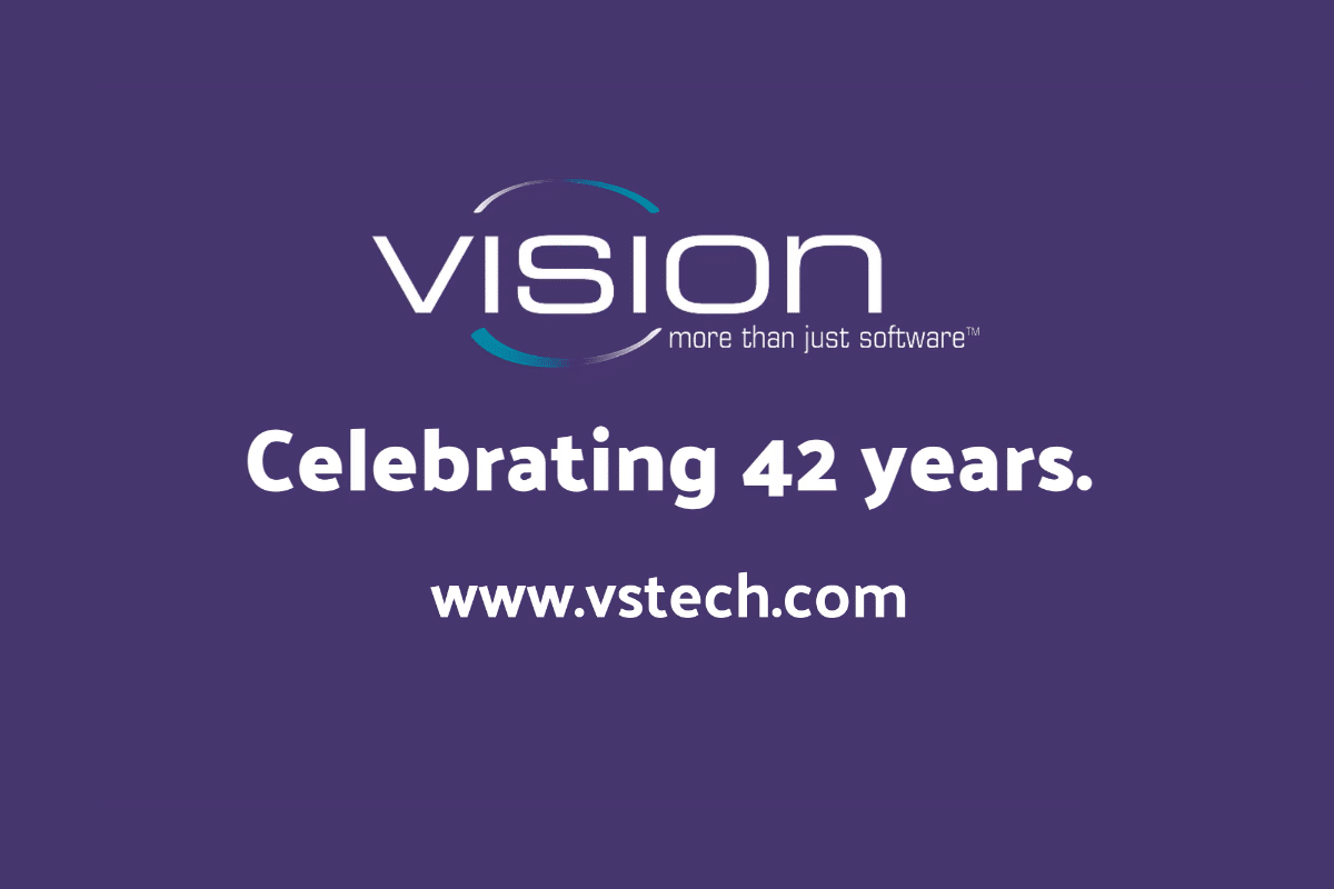Vision Software Celebrates 42 Years